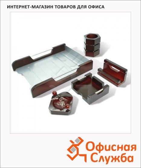 Набор настольный Galant Wood&Metal 5 предметов, красное дерево