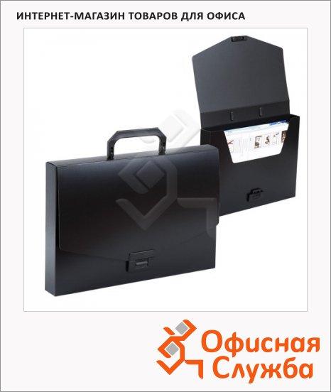 Портфель пластиковый Brauberg Energy черный, 256х330мм