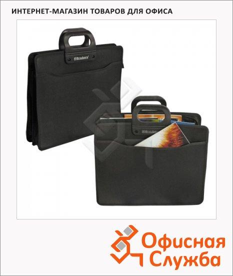фото: Портфель пластиковый Brauberg черный 390х320х120мм, 4 отделения