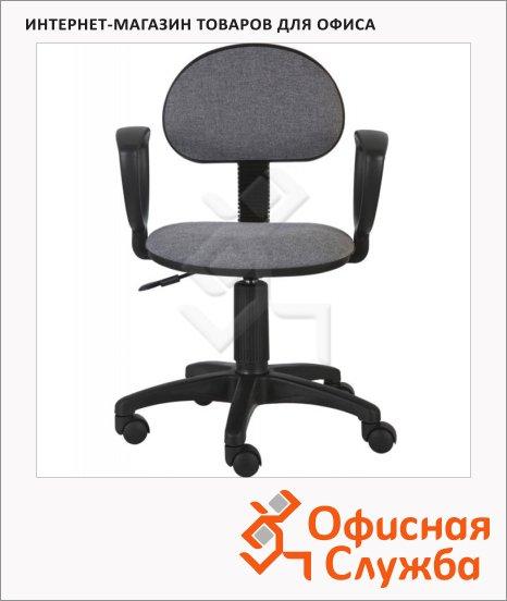 фото: Кресло офисное Бюрократ CH-213AXN ткань крестовина пластик, серая, темная