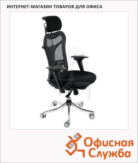 Кресло руководителя Бюрократ CH-999ASX ткань, черная, крестовина хром