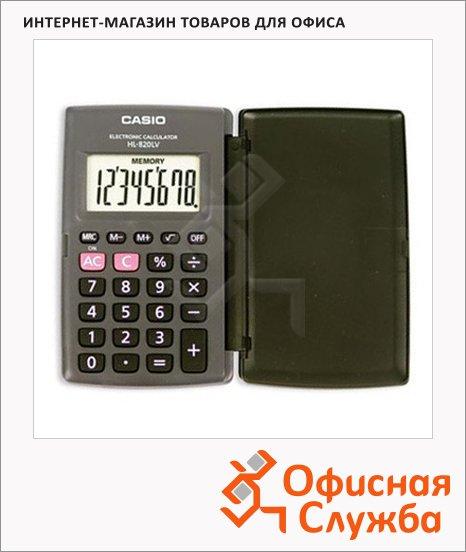 фото: Калькулятор карманный Casio HL-820LV серый 8 разрядов