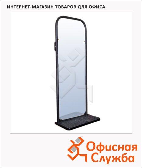 фото: Зеркало настенное черное 1060х420мм, с полкой
