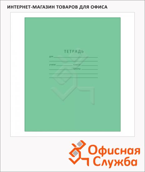 фото: Тетрадь школьная Мировые Тетради зеленая А5, 12 листов, на скрепке, бумага, 10шт, в крупную клетку