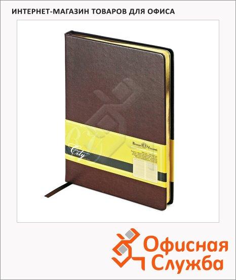 Ежедневник недатированный Bruno Visconti City коричневый, А5, 160 листов