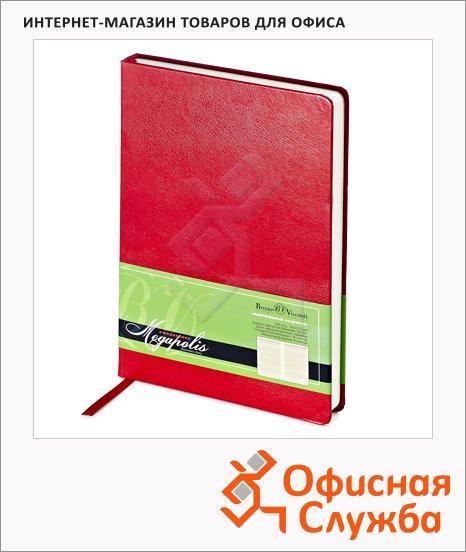 фото: Ежедневник недатированный Bruno Visconti Megapolis красный А5, 160 листов