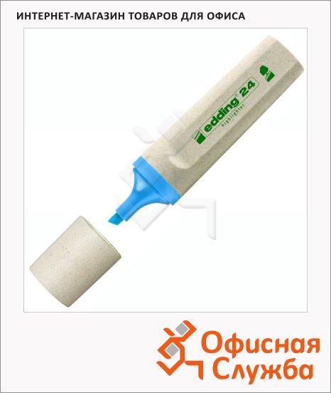 фото: Текстовыделитель Edding ECO 24 синий 1-5мм, скошенный наконечник