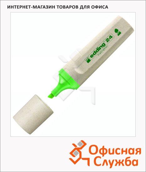 фото: Текстовыделитель Edding ECO 24 зеленый 1-5мм, скошенный наконечник