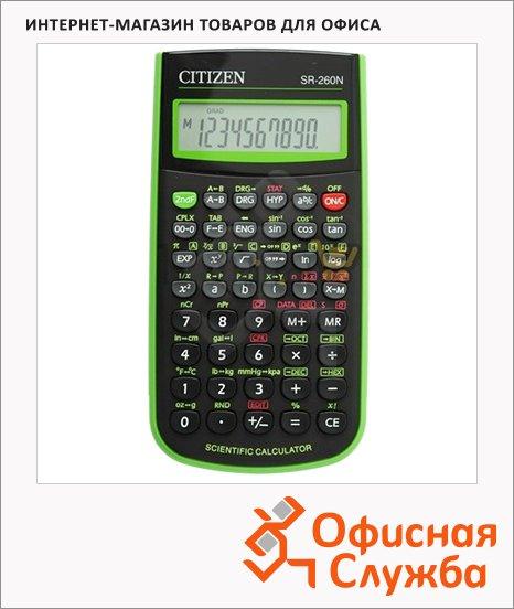 фото: Калькулятор инженерный Citizen SR-260NGR зеленый 10+2 разрядов