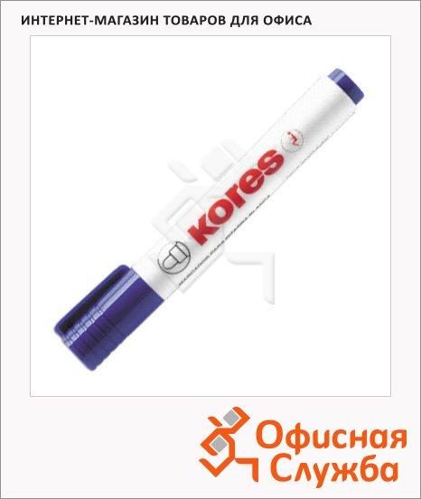 Маркер для досок Kores синий, 2-5мм, круглый наконечник, cap off, 20833