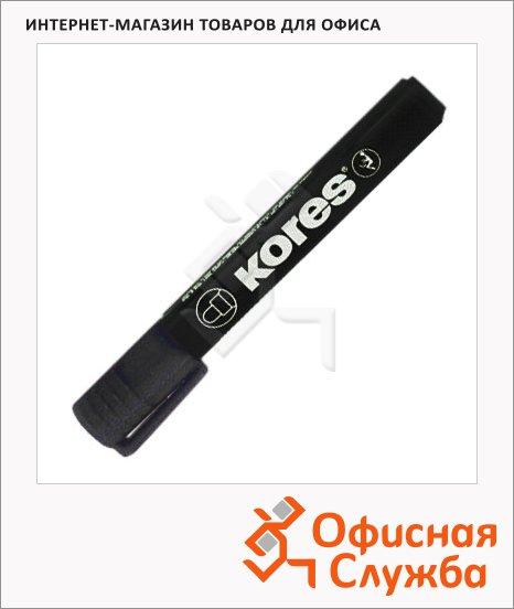Маркер перманентный Kores черный, 1.5-3мм, круглый наконечник