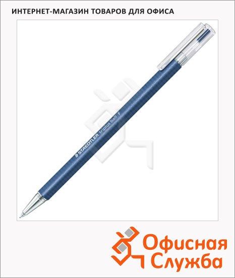 фото: Ручка шариковая автоматическая Staedtler Triplus Ball F синяя 0.3мм