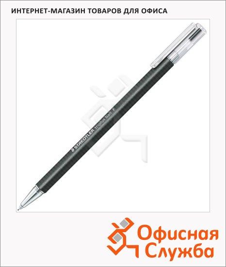 фото: Ручка шариковая автоматическая Staedtler Triplus Ball F черная 0.3мм