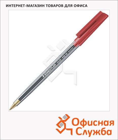 Ручка шариковая Staedtler Stick M красная, 0.5мм