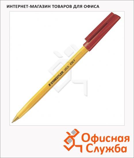 Ручка шариковая Staedtler Stick F красная, 0.3мм