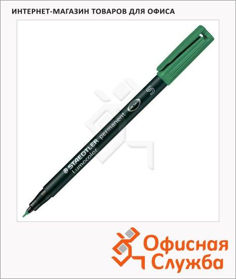 фото: Маркер перманентный Staedtler Lumocolor 313-3 зеленый 0.4мм, круглый наконечник