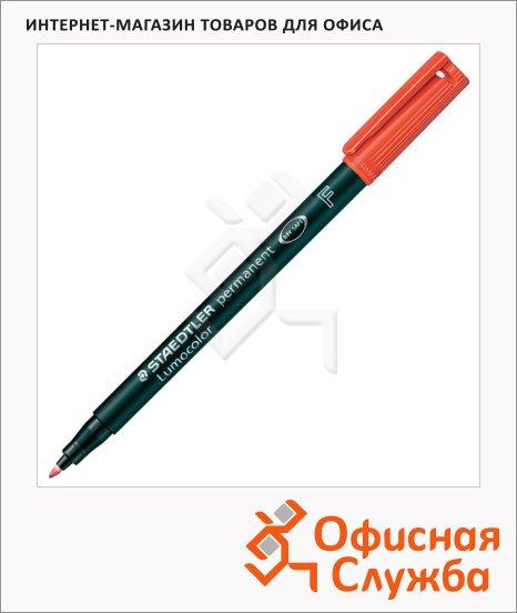Маркер перманентный Staedtler Lumocolor 318-9 красный, 0.6мм, круглый наконечник