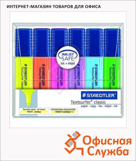 фото: Текстовыделитель Staedtler Textsurfer Classic набор 6 цветов, 1-5мм, скошенный наконечник