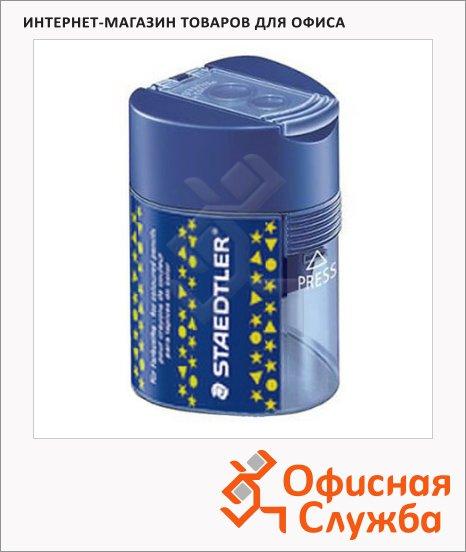 Точилка Staedtler 2 отверстия, с контейнером, синяя