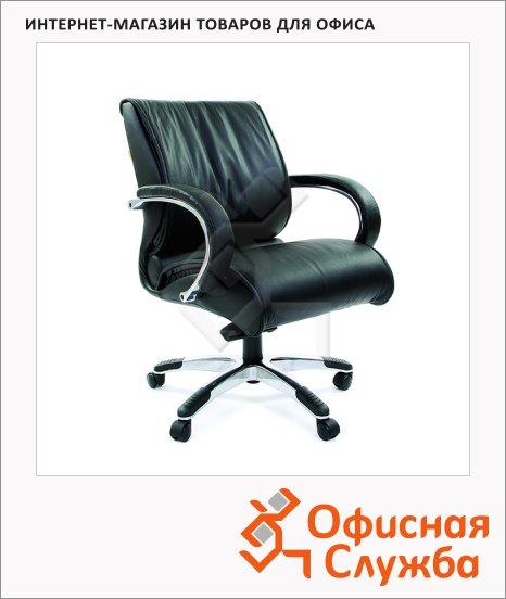 Кресло руководителя Chairman 444 нат. кожа, крестовина хром, черная