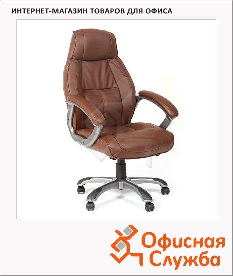 Кресло руководителя Chairman 436 нат. кожа, крестовина пластик, коричневая