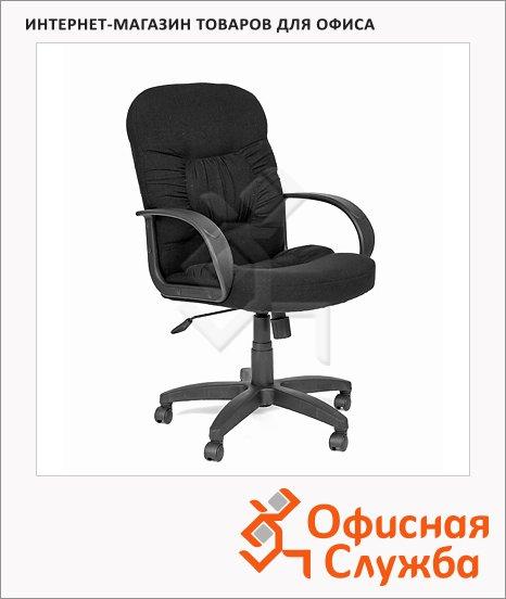 фото: Кресло руководителя 416 ткань черная, крестовина пластик, низкая спинка