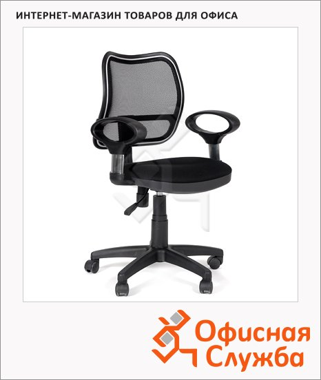 Кресло офисное Chairman 450 ткань, TW, крестовина пластик, черная