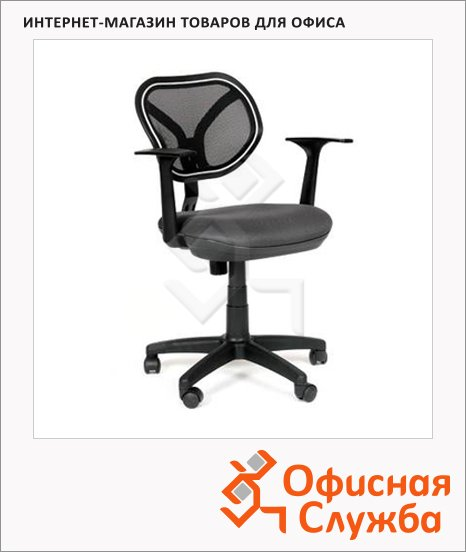 Кресло офисное Chairman 450 ткань, TW, крестовина пластик, NEW, серая