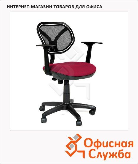 Кресло офисное Chairman 450 ткань, TW, крестовина пластик, NEW, бордовая