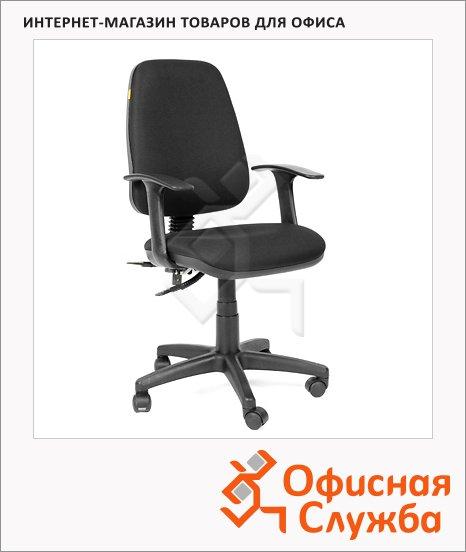 Кресло офисное Chairman 661 ткань, черная, крестовина хром