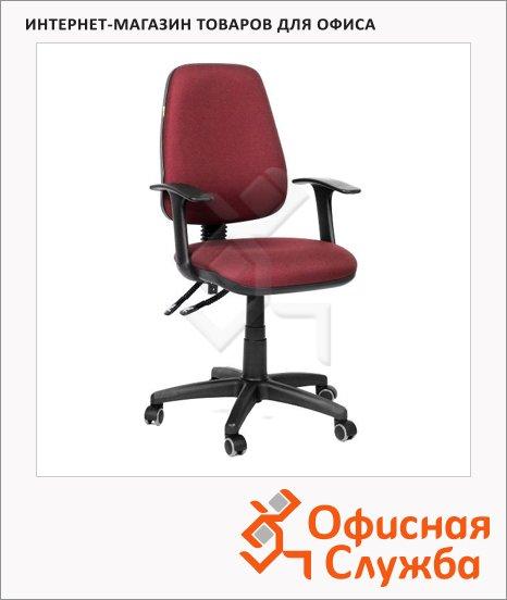 фото: Кресло офисное Chairman 661 ткань бордовая, крестовина хром