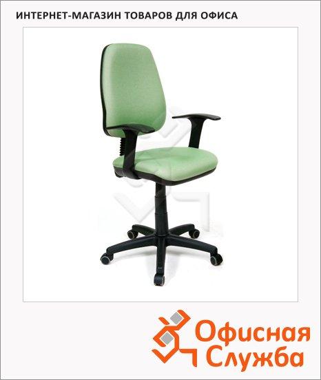 фото: Кресло офисное 661 ткань зеленая, крестовина хром