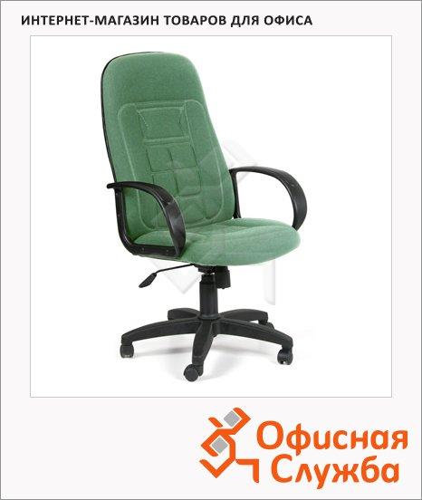 Кресло руководителя Chairman 727 ткань, крестовина пластик, зеленая