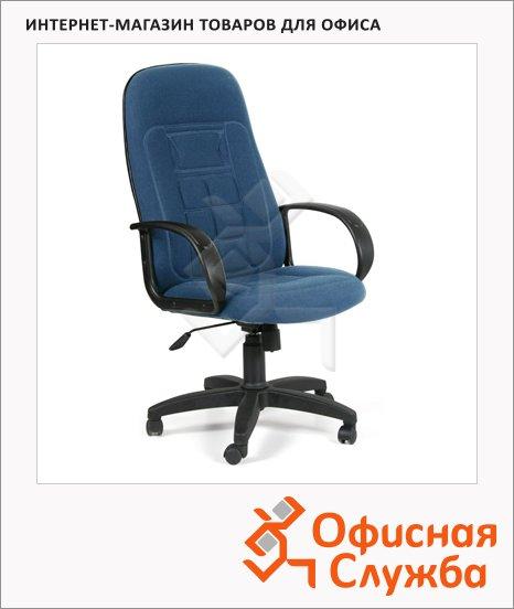 Кресло руководителя Chairman 727 ткань, крестовина пластик, синяя