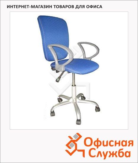 фото: Кресло офисное Chairman 9801 ткань JP, крестовина металл, голубая
