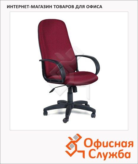 Кресло руководителя Chairman 279 ткань, TW, крестовина пластик, бордовая