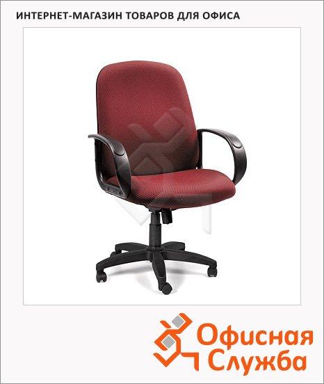 фото: Кресло руководителя 279-M ткань JP, крестовина пластик, низкая спинка, красная, JP