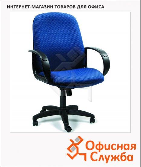 фото: Кресло руководителя 279-M ткань TW, крестовина пластик, низкая спинка, синяя