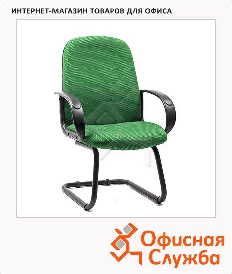 фото: Кресло посетителя 279 V ткань JP, на полозьях, зеленая