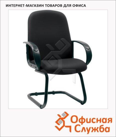 фото: Кресло посетителя Chairman 279 V иск. кожа черная, на полозьях