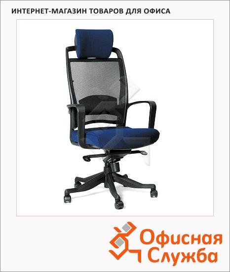 Кресло руководителя Chairman 283 ткань, крестовина пластик, синяя