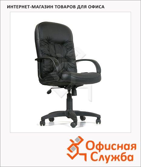 фото: Кресло руководителя Chairman 416 нат. кожа черная, крестовина пластик