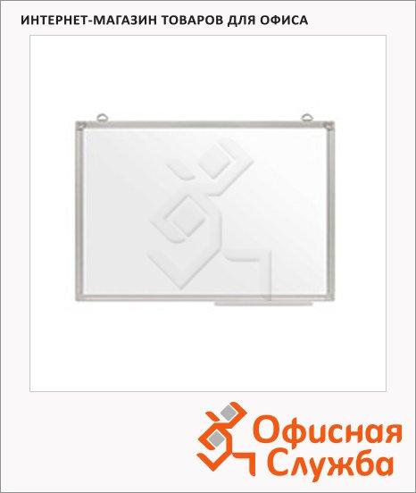Доска магнитная маркерная Attache Эконом 60х90см, белая, лаковая, полочка, алюминевая рамка