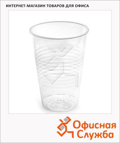Стакан одноразовый Интеко 200мл, пластиковый прозрачный, 12шт/уп