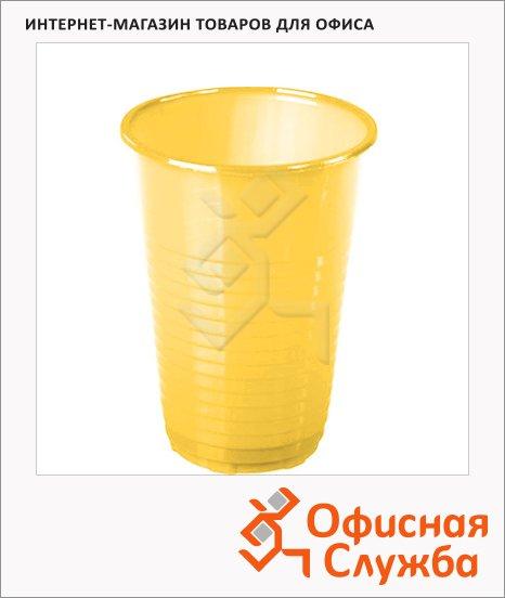 Стакан одноразовый Комус желтый