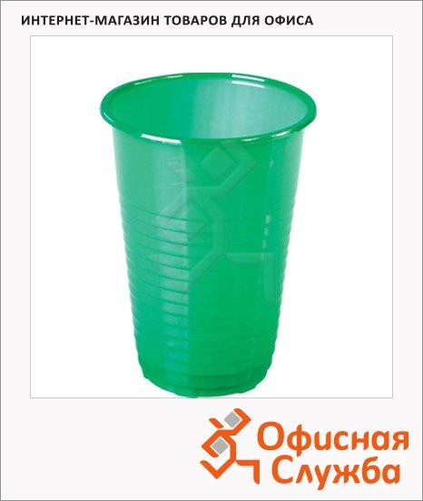 Стакан одноразовый Комус зеленый, 200мл, 25шт/уп