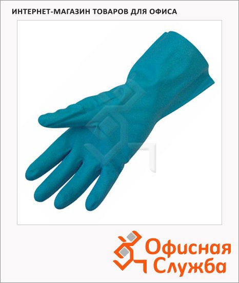 фото: Перчатки защитные Ампаро Риф р.S зеленый, нитрил, 447513