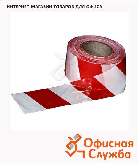 Лента оградительная 75мм х250м, красно-белая