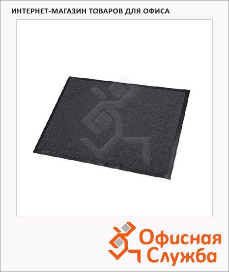 фото: Коврик придверный Floortex ворсовый 60х80см, темно-серый