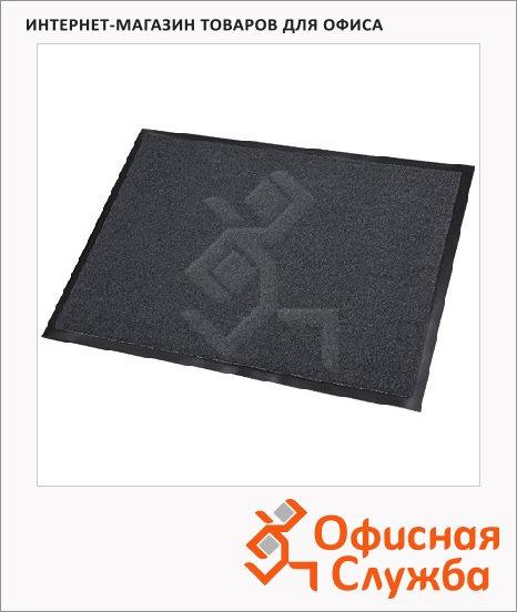 Коврик придверный Floortex ворсовый, 80х120см, темно-серый